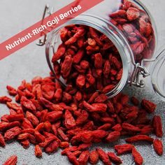 Nutrient-rich Goji berries are an excellent source of fiber, iron, zinc, plant-based protein, and Vitamin C.  #GojiBerries #gojiberry #superfood #HealthyLife #organicfood #yogurt #health #nutrition