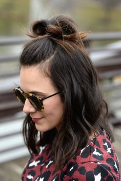 half top knot for short hair - @mystylevita