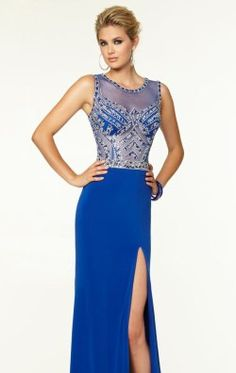 Beaded Slit Gown by Paparazzi by Mori Lee 97137