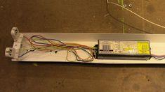 Fluorescent to LED Conversion Led Shop Lights, Shop Lighting, Led Fluorescent, Electrical Wiring, Home Repairs, Useful Life Hacks, Diy Home Improvement, Led Lamp, Barn