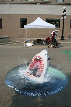 Stader & Muller Chalk Art - If I was this talented I would do this as a living.