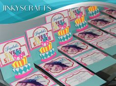Sweet 16 Custom Invitation, Candyland Theme, Popup Invitations with 3-Tier Cake (3D). Custom Pocket Invitations, can be customized for Mis XV Anos/Quinceanera, Bat Mitzvah, Weddings, 18th Birthday, 40th Birthday or any occasion.