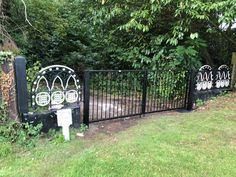 Metal framed driveway gates and estate gates. Huge range of gate designs, handcrafted in the UK to any size. From traditional metal framed driveway gates to modern gate designs. Really make an entrance Driveway Gate, Fence, Metal Railings, Wrought Iron Gates, Decorative Metal, Entrance Gates, Gate Design, Garden Gates, Outdoor Structures