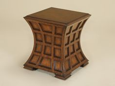 """Pearson - Table inspired by paneling in estate libraries. 21""""W x 21""""D x 21""""H. Available in 20 occasional finishes.  Showroom: 200 N. Hamilton N Ct S-107  #hpmkt"""