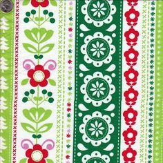 Michael Miller Holiday Stripe in Green. $8.00, via Etsy.