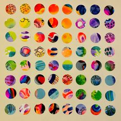 "Colorful circles - Leah (@colorfulartgirl) on Instagram: ""More cut paper. My sister has a bunch of punches including these EK circle and square punches and…"""