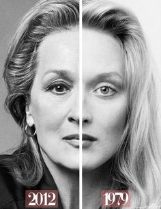 It's not about avoiding old age; it's about growing old gracefully.  (Picture of Meryl Streep; words my own.)