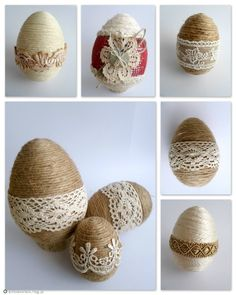 Easy Easter Egg decorating ideas for which you will ot find any where else. These are the best Easter Egg desings for this year. Egg decoration for Easter with strings Easter Egg decorating ideas Plastic Easter Eggs, Easter Egg Crafts, Spring Crafts, Holiday Crafts, Diy Ostern, Easter 2020, Diy Easter Decorations, Easter Crochet, Egg Decorating