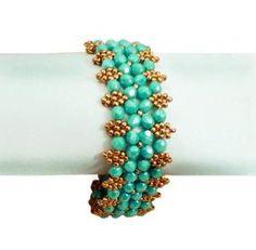 Patron gratuit pour bracelet Aphrodite de perles magiques.  Comme avec la plupart de ces modèles, un décollage à RAW.  #Seed #Bead #Tutorials Par Shopway2much