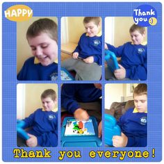 A happy child with from Wigan receives his new iPad from Hearts and Minds Heart And Mind, New Ipad, Ipads, Happy Kids, Autism, Hearts, Mindfulness, Baseball Cards, Children