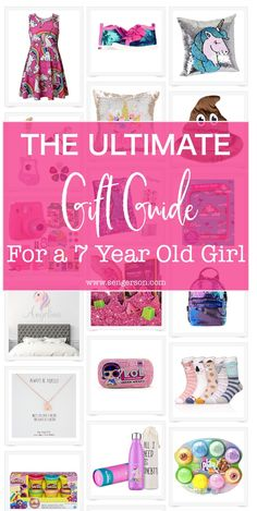 Gifts for 7 Year Old Girls - This is the ultimate gift guide for a 7 year old girl (for first grade and second graders). You'll be sure to knock your gift giving out of the park with these gifts! Diy Gifts For 7 Year Old, 7 Year Old Christmas Gifts, Best Gifts For Girls, Birthday Presents For Girls, Little Girl Gifts, Diy For Girls, Christmas Ideas, Christmas 2019, 8 Year Old Girl