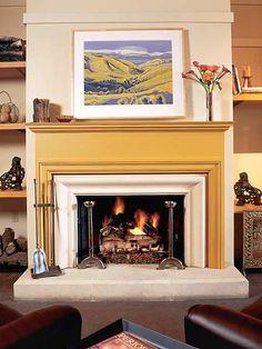 Painted Molding Fireplace Surround Mantels Paint Surrounds Ideas