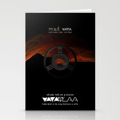 "Vaca - MP: ""Mad Vaca - Estrada das Cordas"" Stationery Card"
