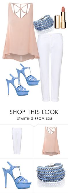 """""""Untitled #16"""" by julies-styling on Polyvore featuring J Brand, Glamorous, Yves Saint Laurent, Sif Jakobs Jewellery, Clarins, women's clothing, women, female, woman and misses"""