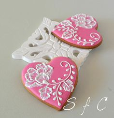 Ideas Cupcakes Decoration Pink Decorated Cookies For 2019 Valentine's Day Sugar Cookies, Fancy Cookies, Iced Cookies, Cute Cookies, Easter Cookies, Cookies Et Biscuits, Heart Cookies, Summer Cookies, Christmas Cookies