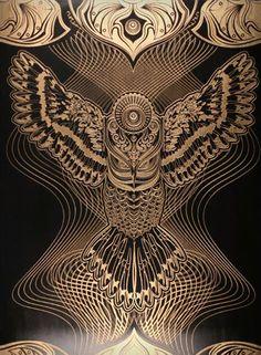 """""""Owlage"""" par Chris Saunders"""