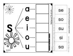 First Grade Math Worksheets, Handwriting Worksheets, Alphabet Worksheets, Alphabet Activities, Preschool Classroom, Preschool Learning, Preschool Activities, Teaching Kids, Spanish Activities