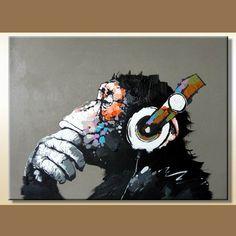 Het in het groot Met de hand gemaakte Geweven Dierlijke Schilderen van de Aap foto auf nl.Made-in-China.com