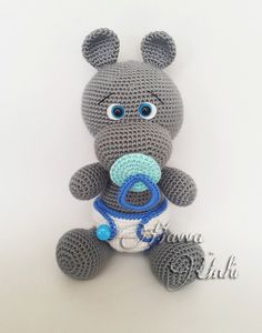 PATTERN Baby Hippo by HavvaDesigns on Etsy