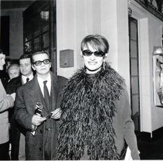 Serge Reggiani et Barbara.