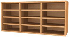 Wall Mounted Wooden Pigeon Hole Units - 12 Compartments - WMPH12