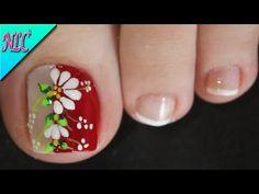 Nail Tutorials, Spring Nails, Toe Nails, Pedicure, Nail Designs, Nail Art, Videos, Youtube, Chic Nails