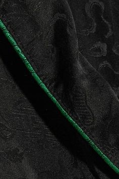 Raquel Allegra - Silk-damask Wrap Dress - Black - 3