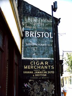 A nice clear one of Bristol cigarettes.