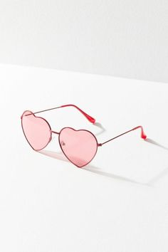 Shop Metal Heart Sunglasses at Urban Outfitters today. Cute Sunglasses, Mirrored Sunglasses, Sunglasses Women, Oversized Sunglasses, Sunnies, Heart Glasses, Cool Glasses, Heart Shaped Glasses, Glasses Frames