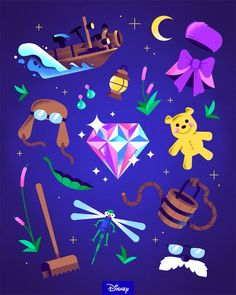 """""""Can you solve the mystery of which movie these props belong to? Disney Films, Disney Cartoons, Disney Pixar, Walt Disney, Disney Bound, Disney Now, Disney And More, Cute Disney, Disney Wallpaper"""