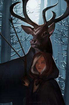 Melou in disguise (he is the deer) but I don't know, who the girl is... yet