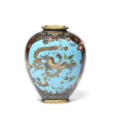 A cloisonné enamel vase By Namikawa Yasuyuki, early Meiji Period