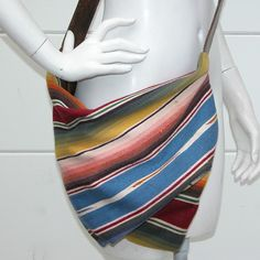 Vintage Mexican Serape and Leather Sling Fold-over Adjustable Strap ...    inspiration