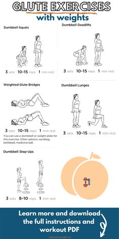 Glute Exercises with Weights (Dumbbell Glute Workout)