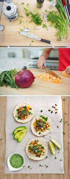 FooF Drink: miso-maple sweet potato tacos
