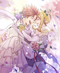 Read NaLu Wedding from the story Lucy Heartfilia Picture Book by Levi_Girlfriend (🖤Mrs. Fairy Tail Lucy, Fairy Tail Nalu, Fairy Tail Family, Fairy Tail Guild, Fairy Tail Couples, Fairy Tail Ships, Fairytail, Studio Ghibli, Natsu Et Lucy