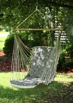 hammock chair....very cool! I have wanted one of these for a VERY long time.