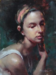 Fongwei Liu: Small Painting - Lost in Thought