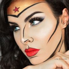 Idée Maquillage Pop Art de Wonder Woman (4)