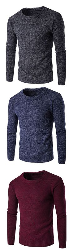 Men's Holiday Casual/Daily Simple Regular Pullover #Fashion