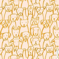 Loving this cute pattern of sweet doggies and its soft colors! #dogpattern #animalart #animalfashion