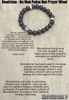 Bloodstone brings love into any situation and helps ground the negative energies surrounding that issue. #love #yoga #manifest #heart #bracelet #goals #friendship #happiness #bead #meditate #mantra #healing #zen #karma #prayer #spiritual #friendship #lucky #luck #luxury #power #energy #crystal #motivate #chakra #red #Om #mani #Buddha #mantra #meditation #black #Buddhist