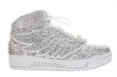 purchase cheap 73f5e 0d5b6 crystal jeremy scott adidas sneaks Adidas Wing Shoes, Adidas Sneakers, Adidas  Jeremy Scott Wings