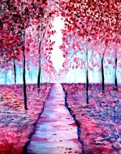 Pathway Through Spring at Tilted Kilt Richmond Hill - Paint Nite Events near Richmond Hill, ON>
