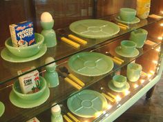 Fireking Cafe in Tokyo has an extensive jadeite collection on display.