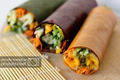 Raw Japanese Wraps 01 Stunning Raw Japanese Colour Wheel Wraps by GreenChefs Golubka Pureed Food Recipes, Raw Vegan Recipes, Vegetarian Recipes, Healthy Recipes, Vegetarian Sandwiches, Going Vegetarian, Vegetarian Breakfast, Vegetarian Dinners, Vegetarian Cooking