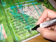 Art Journal Process- how to prepare composition notebook for art journalling