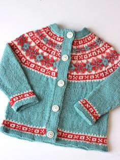 Cardigan in the most amazing colors. Free pattern by Drops.