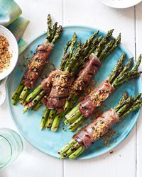 Prosciutto-Wrapped Asparagus with Lemony Bread Crumbs Recipe on Food & Wine