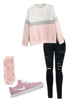 """""""Untitled #389"""" by jinxeddai on Polyvore featuring NIKE and MANGO"""